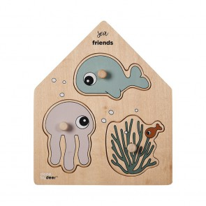 Done by Deer - Holz-Puzzle, Sea friends