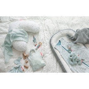 Done by Deer - Spucktuch 2-er Pack - Dreamy dots, blau