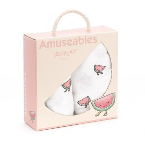Jellycat - Musselin-Windel 2-er Pack, Watermelon